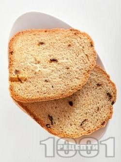 Домашен селски хляб с прясно мляко за хлебопекарна (със суха мая) - снимка на рецептата